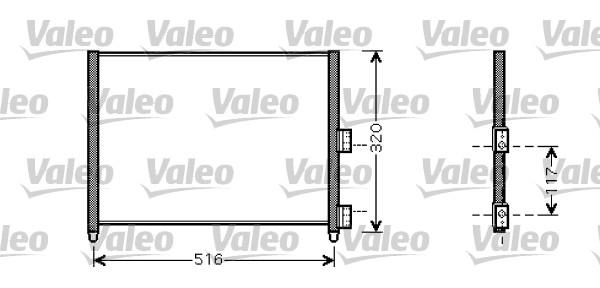 Condenseur, climatisation - VALEO - 818020