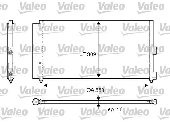 Condenseur, climatisation - VALEO - 818021