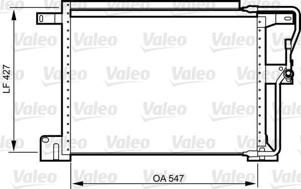 Condenseur, climatisation - VALEO - 818024