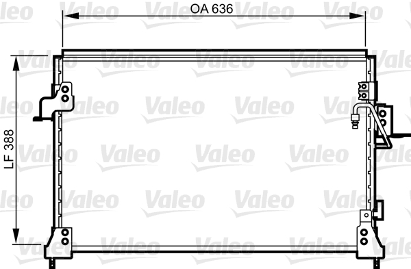 Condenseur, climatisation - VALEO - 818025