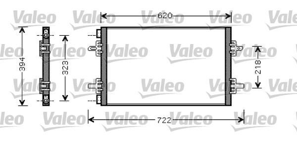 Condenseur, climatisation - VALEO - 818027