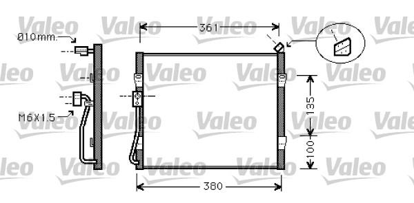 Condenseur, climatisation - VALEO - 818031