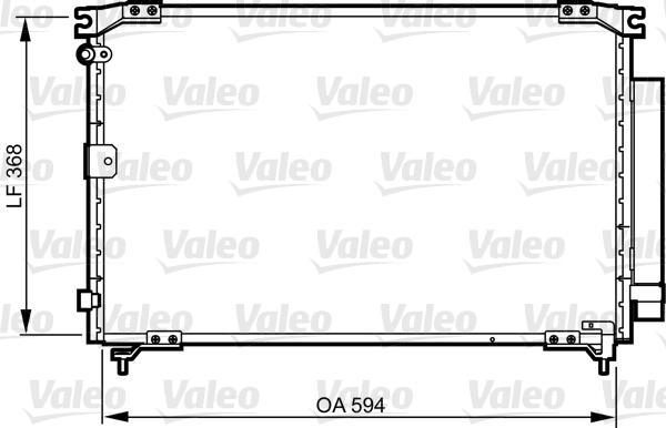 Condenseur, climatisation - VALEO - 818032