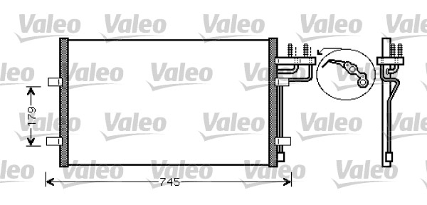 Condenseur, climatisation - VALEO - 818046