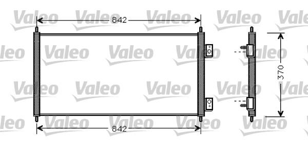 Condenseur, climatisation - VALEO - 818050