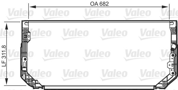 Condenseur, climatisation - VALEO - 818107