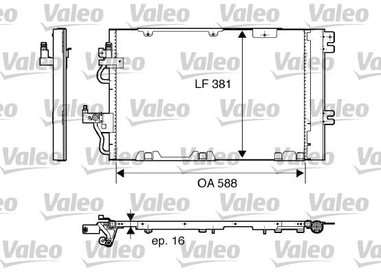 Condenseur, climatisation - VALEO - 818114