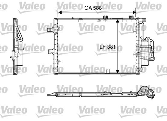 Condenseur, climatisation - VALEO - 818118