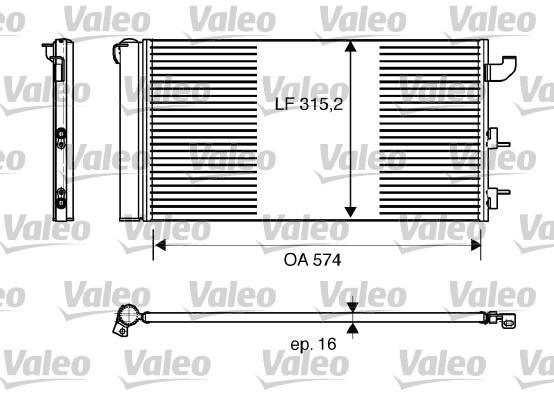 Condenseur, climatisation - VALEO - 818162