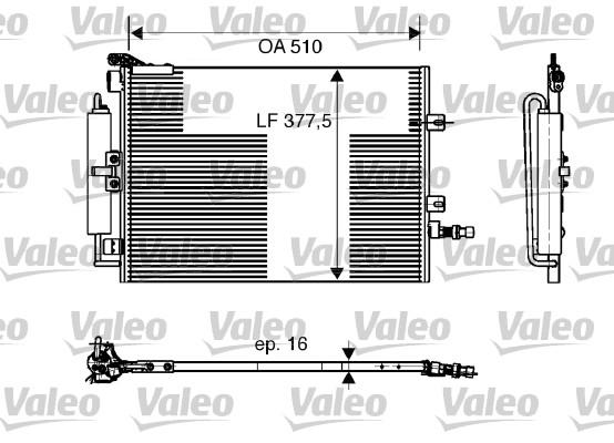 Condenseur, climatisation - VALEO - 818165