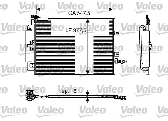 Condenseur, climatisation - VALEO - 818166