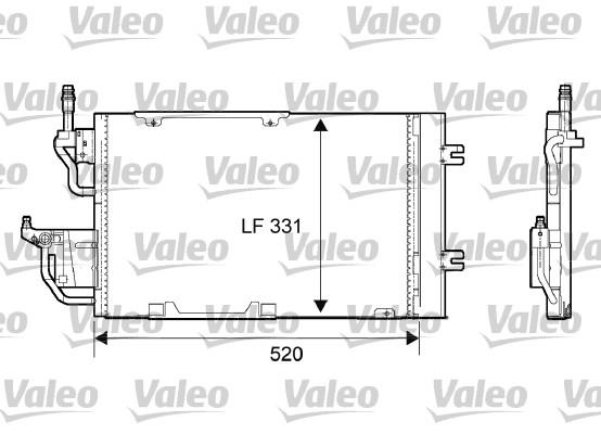 Condenseur, climatisation - VALEO - 818168