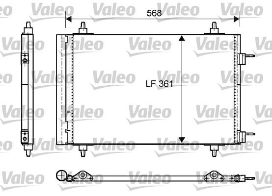 Condenseur, climatisation - VALEO - 818170