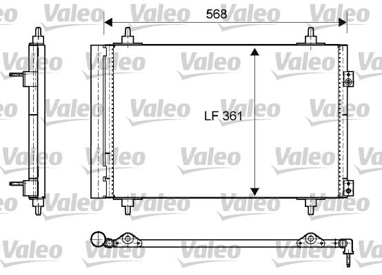 Condenseur, climatisation - VALEO - 818171