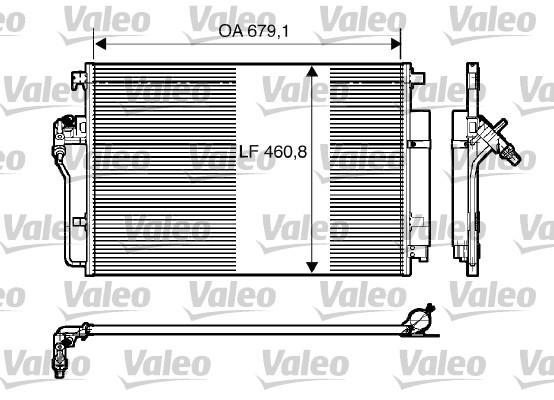 Condenseur, climatisation - VALEO - 818173