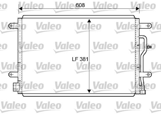 Condenseur, climatisation - VALEO - 818190