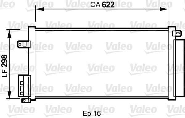 Condenseur, climatisation - VALEO - 818192
