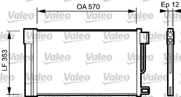 Condenseur, climatisation - VALEO - 818193