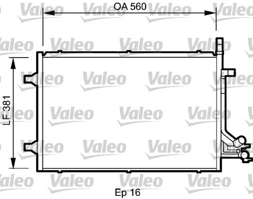 Condenseur, climatisation - VALEO - 818194