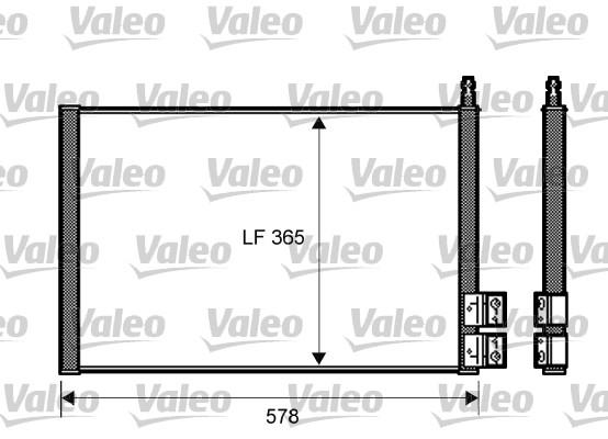 Condenseur, climatisation - VALEO - 818195
