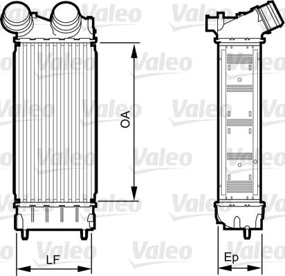 Intercooler, échangeur - VALEO - 818226