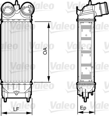 Intercooler, échangeur - VALEO - 818227