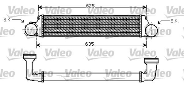 Intercooler, échangeur - VALEO - 818715