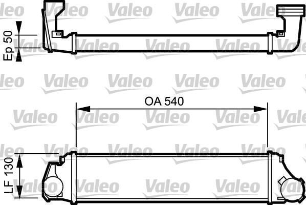 Intercooler, échangeur - VALEO - 818716