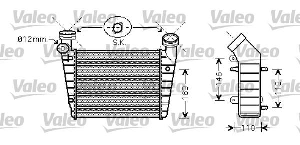 Intercooler, échangeur - VALEO - 818720