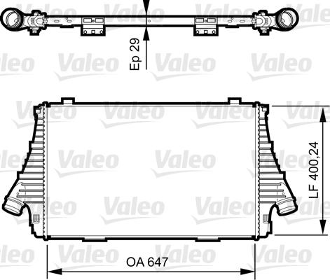 Intercooler, échangeur - VALEO - 818721