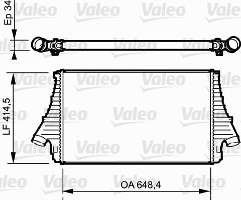 Intercooler, échangeur - VALEO - 818722