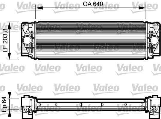 Intercooler, échangeur - VALEO - 818732
