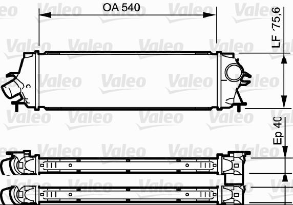 Intercooler, échangeur - VALEO - 818771