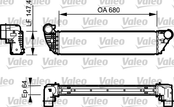 Intercooler, échangeur - VALEO - 818772