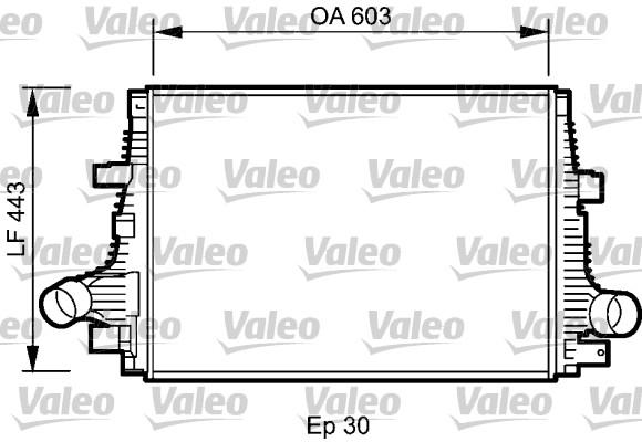 Intercooler, échangeur - VALEO - 818794