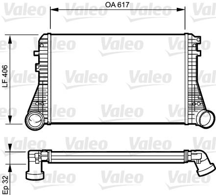 Intercooler, échangeur - VALEO - 818795