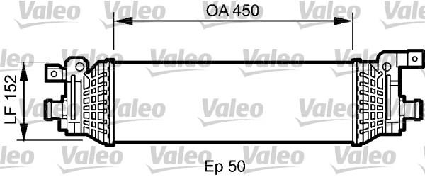 Intercooler, échangeur - VALEO - 818797
