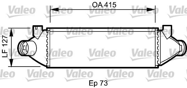 Intercooler, échangeur - VALEO - 818800