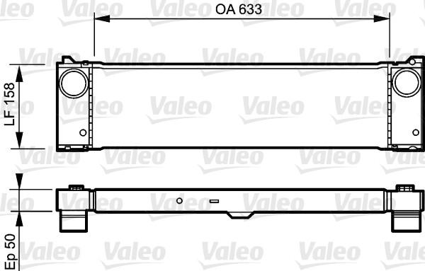 Intercooler, échangeur - VALEO - 818807