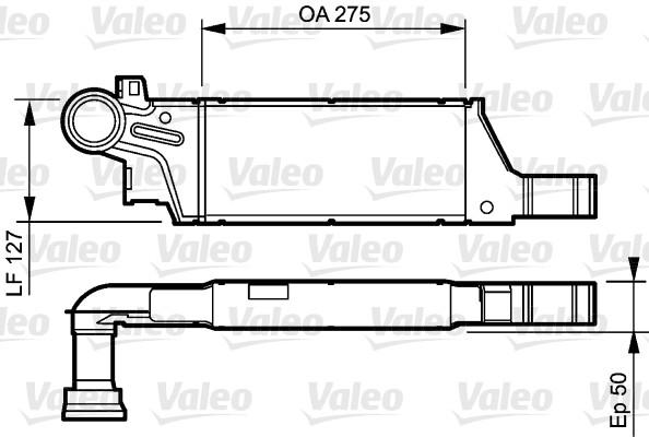 Intercooler, échangeur - VALEO - 818809
