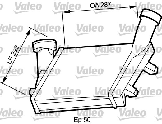 Intercooler, échangeur - VALEO - 818815