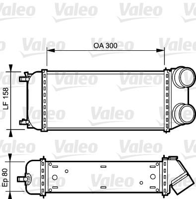Intercooler, échangeur - VALEO - 818822