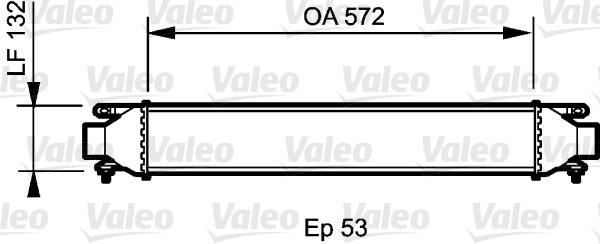 Intercooler, échangeur - VALEO - 818824