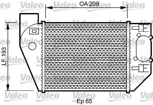Intercooler, échangeur - VALEO - 818825