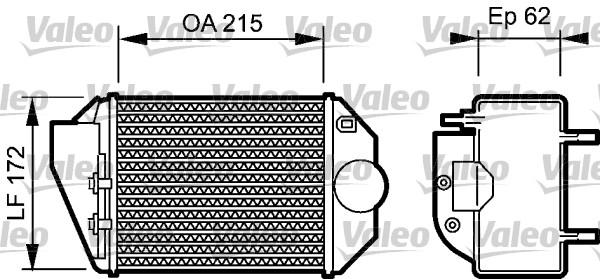 Intercooler, échangeur - VALEO - 818827