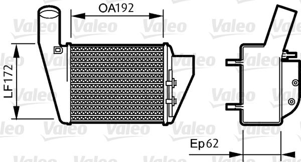 Intercooler, échangeur - VALEO - 818828