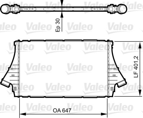 Intercooler, échangeur - VALEO - 818840