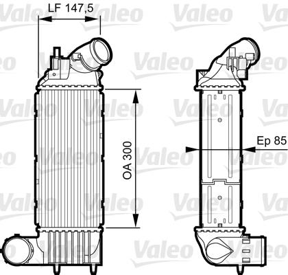 Intercooler, échangeur - VALEO - 818895