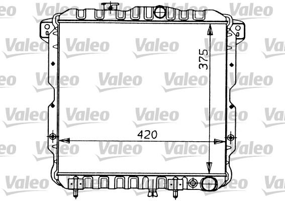 Radiateur, refroidissement du moteur - VALEO - 819119