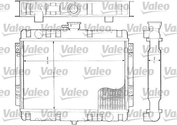 Radiateur, refroidissement du moteur - VALEO - 819161